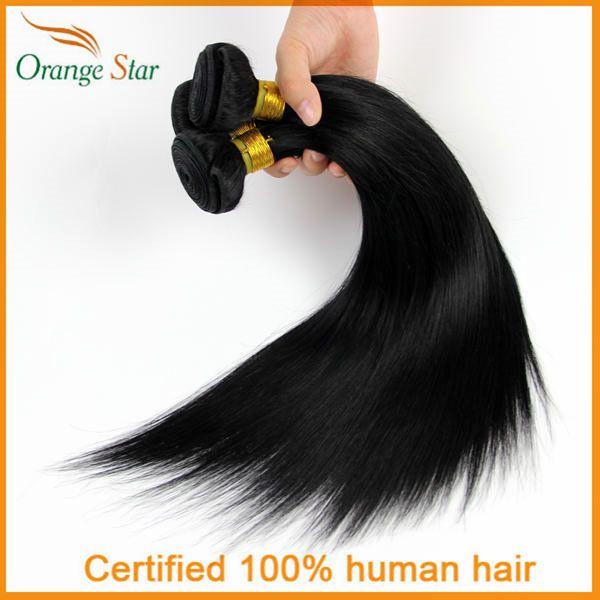 Черные как смоль прямые волосы цвета 1 # черные как смоль волосы переплетения 3 пучки 10 - 30 дюймов струйной-черная человеческих волос ES301