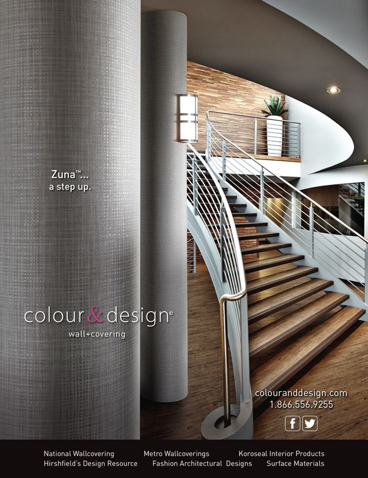 Advertisement Design And Photography For Colour Designs ZunaTM Wallcovering In The May Interior MagazineAd