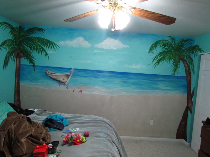 Best 20 beach mural ideas on pinterest beach signs for Beach mural painting