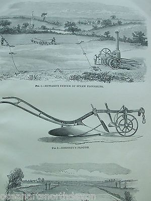Antique #print dated #c1880s engraving agricultural #implements farming plough,  View more on the LINK: 	http://www.zeppy.io/product/gb/2/131511088081/
