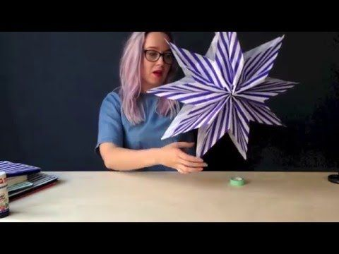 MAKE A PAPER BAG STAR in under 5 minutes  - KICKASS CRAFT from Ladyland - YouTube