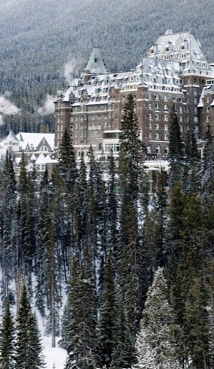Chateau Banff Springs, Banff, Alberta, Canada (by robert_goulet on Flickr) I've actually been there, beauty everywhere!