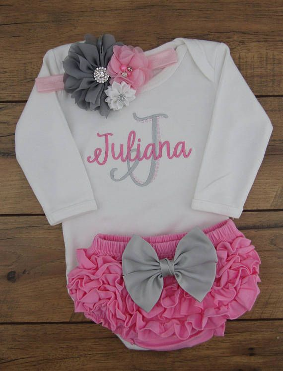 personalized baby girl coming home outfit custom newborn baby baby