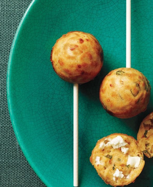 The Perfect Party Bite: Mini Feta Cakes with Basil and Smoked Paprika