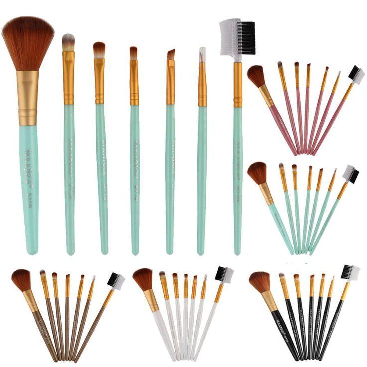 7pcs Popular Brand Makeup Cosmetic Brushes Eyeshadow Eye Shadow Foundation Blending Brush Support U0313