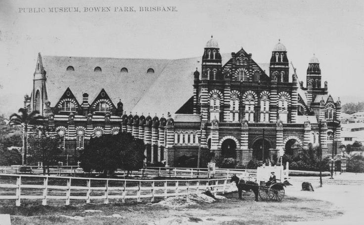 The Old Museum 1906. This building was known as the Exhibition Building from when it was built in 1891 to 1900. As well as the large exhibition hall the building was constructed with a separate concert hall (Exhibition Concert Hall) that continued to operate until the completion of the Brisbane City Hall in 1930. Between 1901 and 1987 the building housed the Qld Museum. From 1930 to 1970 the building also housed the Qld Art Gallery. Since 1988 it has been known as the Old Museum Building.