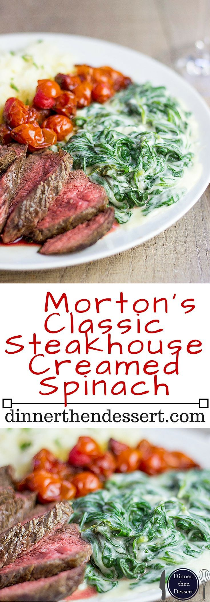 Creamy, rich Classic Steakhouse Creamed Spinach that takes just a few minutes and is the perfect side for a holiday roast or prime rib.