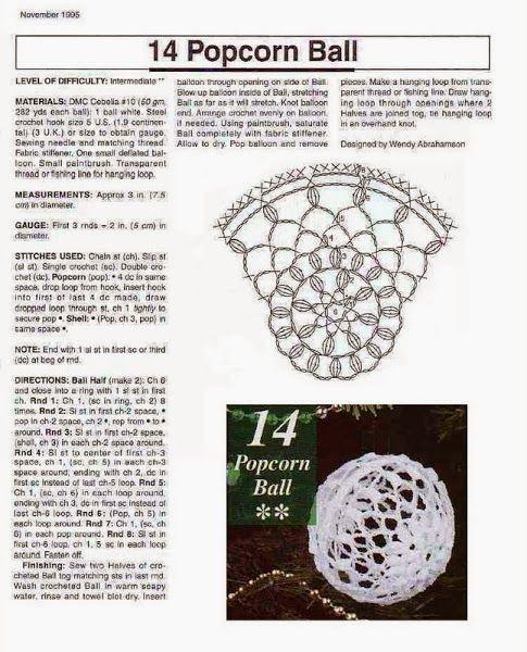 crochet, boule de noel