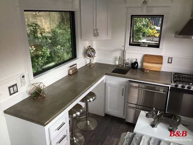 Tiny Home Designs: The Arcadia: A Unique And Beautiful Modern/rustic Tiny Home From B&B Micro Manufacturing.