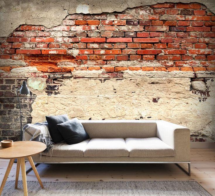 """Vlies Fototapete, Günstige Fototapete """"City History"""" im urban Style. Motive der Fototapete: Hintergrund, Textur, Wand, Ziegelsteine, Stein."""