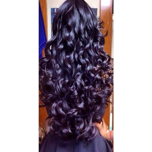 Perfect curls for long hair