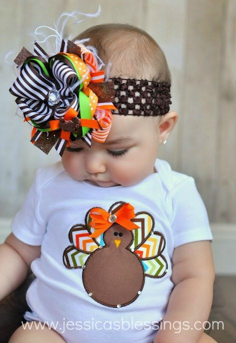 Hadley will have thisLittle Girls, Fall Onesies, Holiday Outfit, Thanksgiving Baby, Hair Bows, Baby Girls, Big Bows, Thanksgiving Onsie, Baby Shower