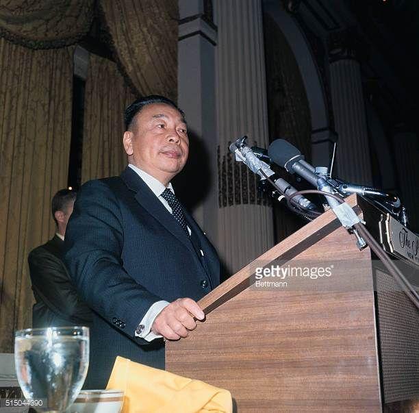 Chiang Ching-Kuo Speaking at Podium
