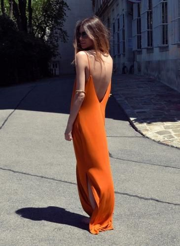 Vestidos con una larga caída