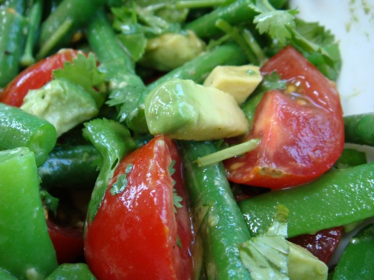 Avocado green bean salad | Dinner Recipes | Pinterest