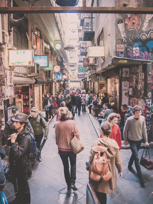 6 x 8 Print - Melbourne Laneway / Alley / Street Photography / Fine Art / Melbourne City Australia / People in City. $20.00, via Etsy.