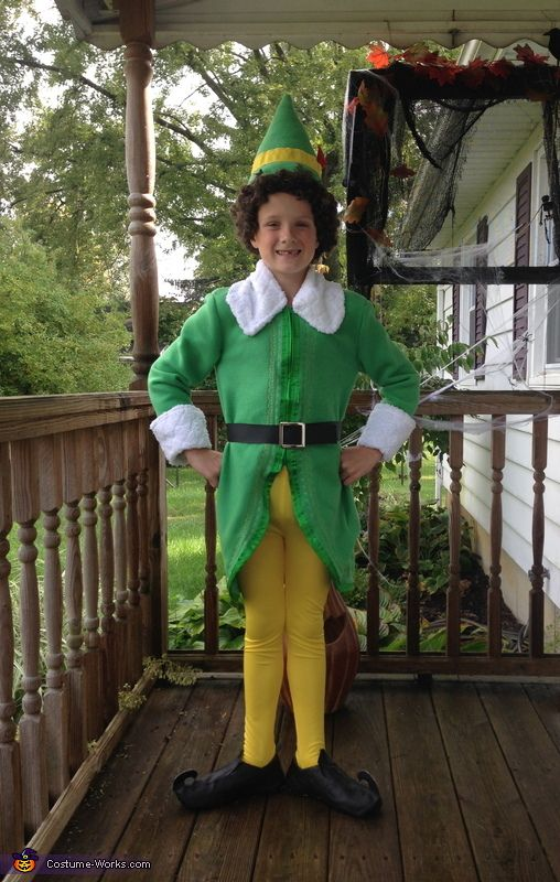 Natasha: My son is wearing this costume. He asked me to make it due to Elf being his favorite movie. The only thing bought was the shoe base and wig. Everything...