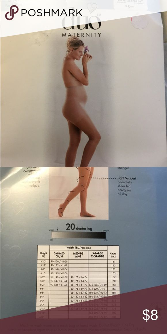 New maternity pantyhose med/large suntan 2 brand new packages of maternity pantyhose  Med/large, suntan , light support, ribbed panty for expansion, sandalfoot duo Accessories Hosiery & Socks