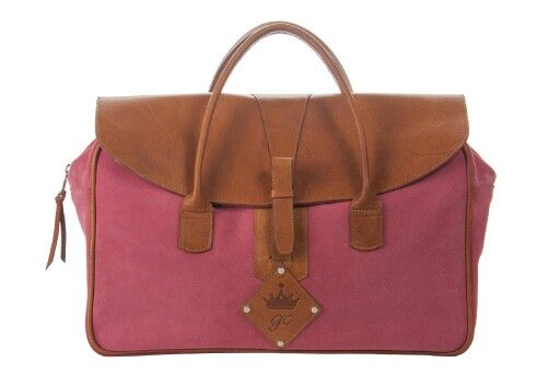 City bag fuxia y camel