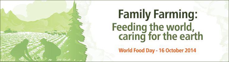 """Birleşmiş Milletler Gıda ve Tarım Organizasyonu, Dünya Gıda Günü'nün bu seneki temasını """"Aile Tarımcılığı"""" olarak belirledi. Aile tarımcılığının açlığı ve yoksulluğu önlemede çok büyük rolü olduğuna inanılıyor."""