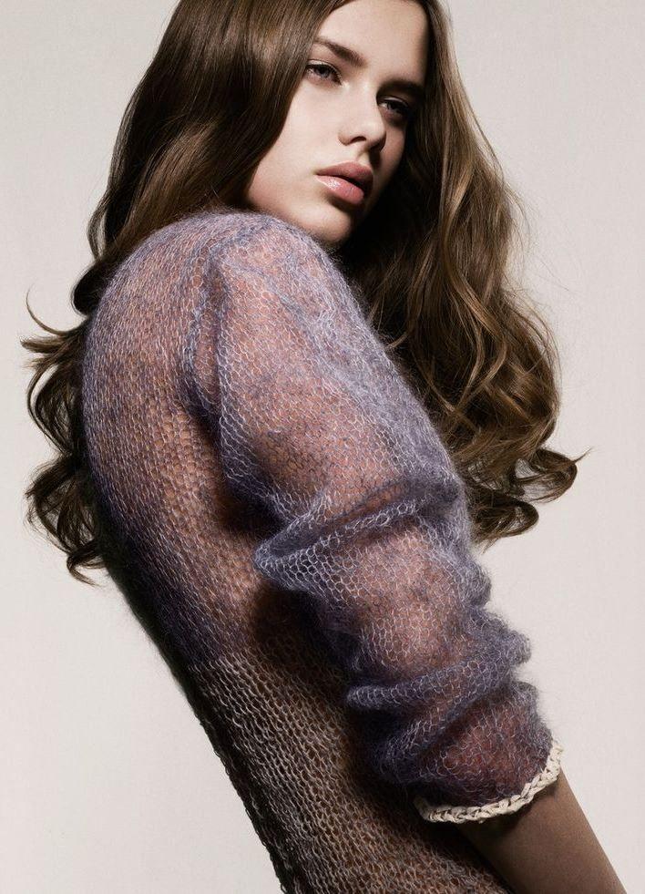 мохеровый свитер спицами - Google Search