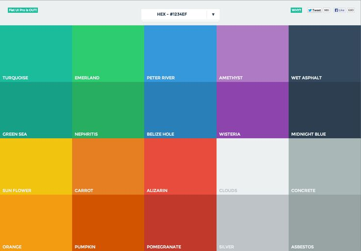 Color Palette from Flat UI Colors