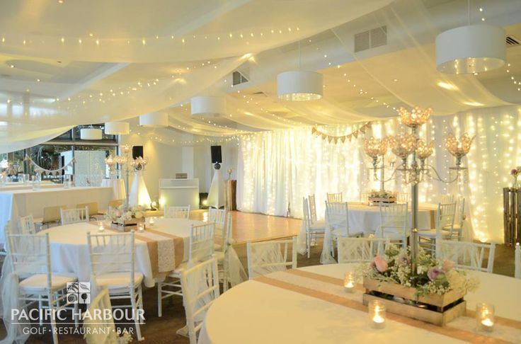 The beautiful venue at the Pacific Harbour function room for Francesca & Michael's wedding, call us on (07) 3410 4001 for more information for your own dream wedding.