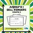 Algebra 1 Bell Ringers: Volume 2