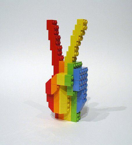 LEGO Peace Sign