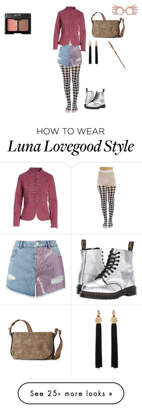 """Luna Lovegood"" by emme23412 on Polyvore featuring Miss Selfridge, Dr. Martens, Live a Little, Steve Madden, Yves Saint Laurent and Charlotte Russe"