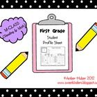 This profile sheet is great for any first grade teacher who uses MClass (Dibels) testing. You can record your students' test scores in both reading...