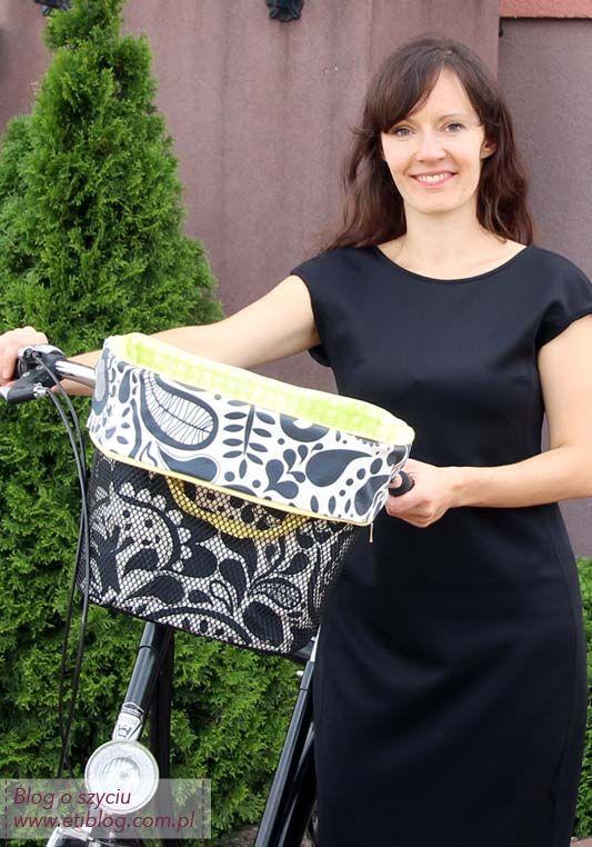 Jak uszyć włkad do koszyka na rower - blog o szyciu