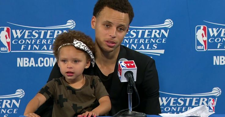 Stephen Curry's Adorable Daughter Riley Took Over His Post-Game Press ... Stephen Curry #StephenCurry