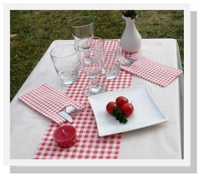 Tischdecke abwaschbar weiß