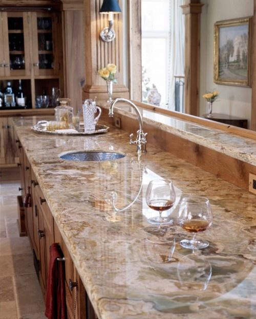 gorgeous granite counter top