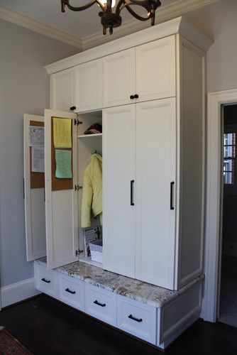 Very nice rear entry with desk and lockers! - traditional - entry - charlotte - Hardwood Creations