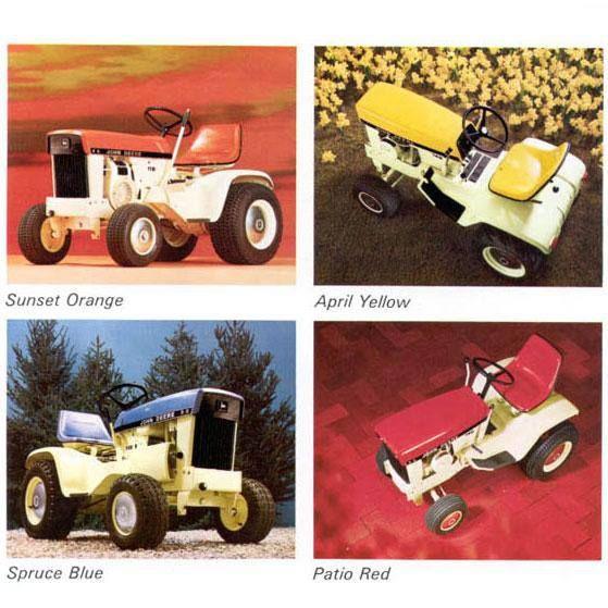 John Deere Lawn Tractors Werenu0027t Always Green. For 3 Years Custom Colored
