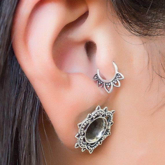 35 best cartilage tragus helix piercing images on. Black Bedroom Furniture Sets. Home Design Ideas
