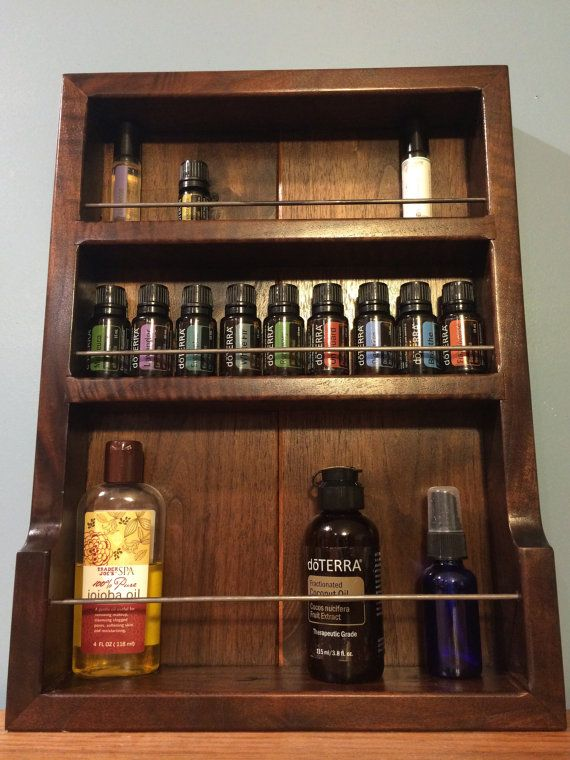 Walnut Wall Storage For Essential Oils On Etsy