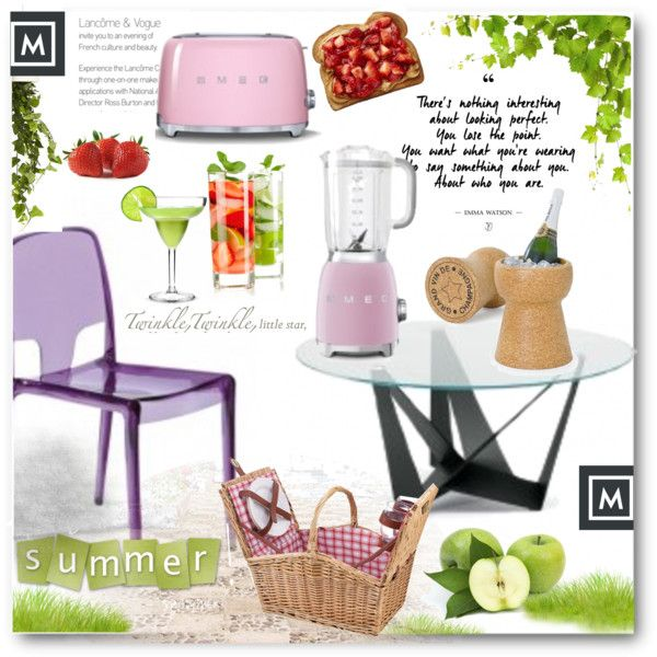 A fashion look from June 2016 by edy321 featuring Picnic Time, Boskke, WallPops, Smeg e polyvoreeditorial