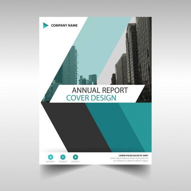 Геометрическая корпоративная брошюра Free Vector