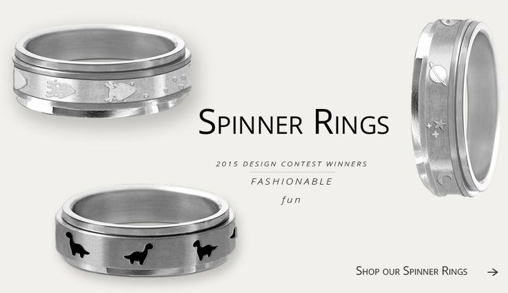 Spinner-Ring (bewegliche Ringe zum herumdrehen - zum Spannungsabbau zB für Menschen mit Autismus-Sepektrum-Störung)