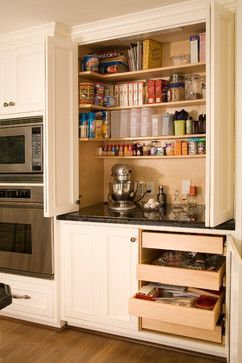 Baking station. Use this idea for coffee/toast station in dining area.