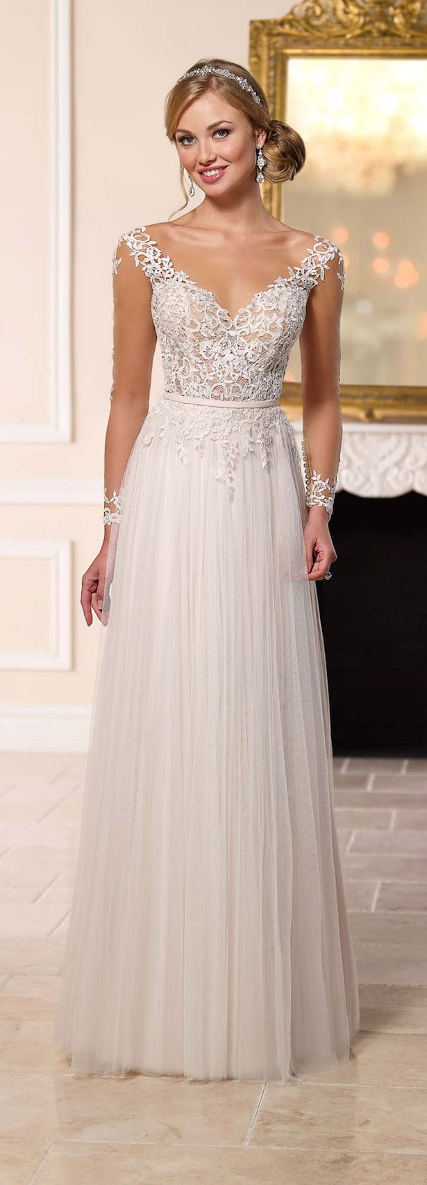 Stella York Spring 2016 Wedding Dress | www.endorajewellery.etsy.com