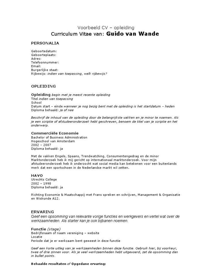 3631b463f134f09c3dc4de46b6f754b4--cv-reading How To Write A Personal Curriculum Vitae on