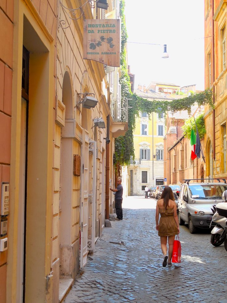 Via Gesù in Rome, Italy.  Just south of Piazza del Popolo and a wonderful place to shop! July 2013.