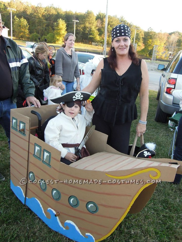 "The ""Jolly Booger"" Pirate Ship Wheelchair Costume... This website is the Pinterest of costumes"