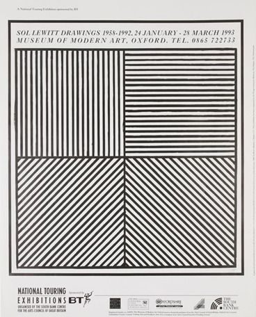 Exhibit poster for Sol LeWitt Drawings, 1993, at the Museum of Modern Art, Oxford