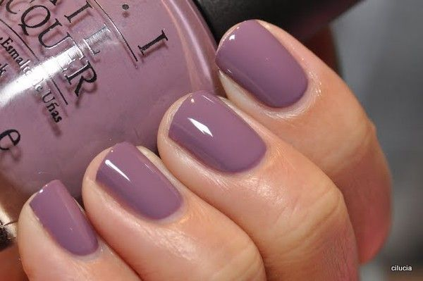 "Opi Color...""parlez-vous."" Great Fall color. . I'm really not a big purple fan, but I think I could handle this"