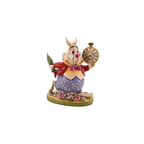 Disney Alice in Wonderland ''White Rabbit'' Garden Statue and Thermometer by Jim Shore | Disney Store found on Polyvore